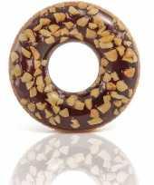 Goedkope bruine opblaasbare chocolade donut zwemband cm