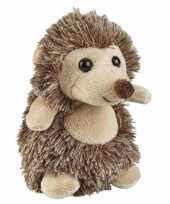 Goedkope bruine pluche egel knuffel speelgoed