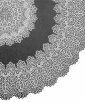 Goedkope buiten tafelkleed tafellaken antraciet grijs amira rond 10149808