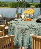 Goedkope buiten tafelkleed tafellaken zeegroen amira rond