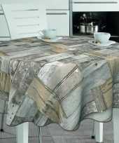 Goedkope buiten tafelkleed tafelzeil houten planken goedkope