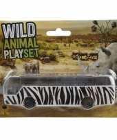 Goedkope bus safari speelgoedauto zebra goedkope