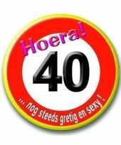 Goedkope button jaar verkeersbord 10030014