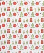 Goedkope cadeaupapier kerst elementen rol