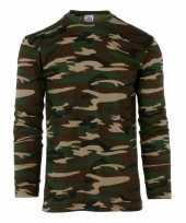 Goedkope camouflage shirt heren lange mouw