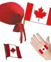 Goedkope canada canadees thema verkleed set volwassenen