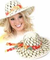Goedkope caribische stro hoed dames