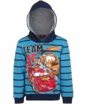 Goedkope cars capuchon sweater blauw jongens