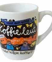 Goedkope cartoon mok koffieleut