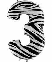 Goedkope cijfer ballon zebra 10062664