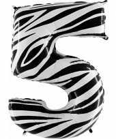 Goedkope cijfer ballon zebra 10062666