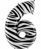 Goedkope cijfer ballon zebra 10062667