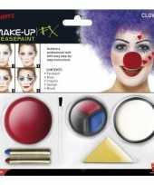 Goedkope clown schmink set inclusief clownsneus