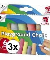 Goedkope clown stoepkrijt stuks 10121564