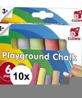 Goedkope clown stoepkrijt stuks 10121584
