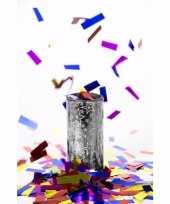 Goedkope confetti tafelkanon zilver