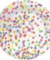 Goedkope confetti thema bordjes stuks