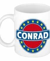Goedkope conrad naam koffie mok beker