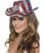 Goedkope cowboy glitterhoed usa