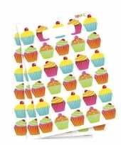 Goedkope cupcake thema feestzakjes stuks