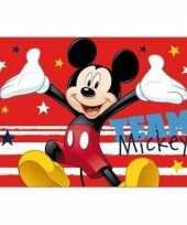 Goedkope d placemat disney mickey mouse rood