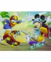 Goedkope d placemat mickey donald skateboarden