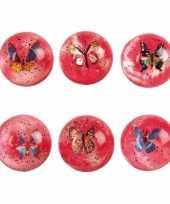 Goedkope d roze stuiterbal vlinder