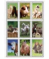 Goedkope d stickers boerderijdieren stuks