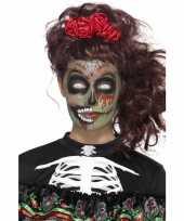 Goedkope day of the dead schmink set zombie