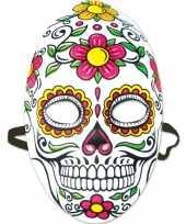 Goedkope day of the dead sugarskull gezichtsmasker dames
