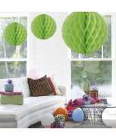 Goedkope decoratie bol lime groen 10059777