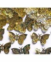 Goedkope decoratie confetti gouden vlinders gram