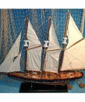 Goedkope decoratie houten model driemaster zeilschip