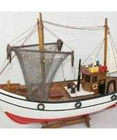 Goedkope decoratie houten model kotter zeilboot