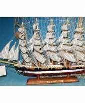 Goedkope decoratie houten model schip preussen