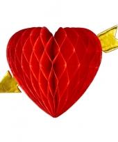 Goedkope decoratie rood hart pijl