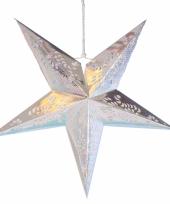 Goedkope decoratie ster lampion zilver