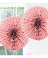 Goedkope decoratie waaier licht roze