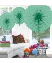 Goedkope decoratie waaier mint groen
