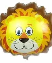 Goedkope dieren folieballon leeuw leeuwen
