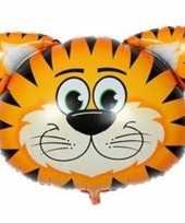 Goedkope dieren folieballon tijger
