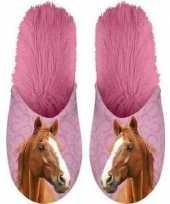 Goedkope dieren paarden instap sloffen pantoffels roze dames