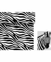 Goedkope dieren thema tafeldecoratie set zebra tafelloper servetten