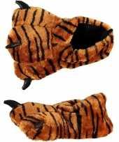 Goedkope dierenpoot sloffen tijger dames