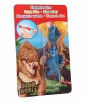 Goedkope dino world mini dino katapult t rex blauw