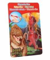 Goedkope dino world mini dino katapult t rex rood