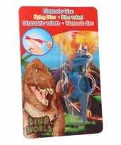 Goedkope dino world mini dino katapult triceratops blauw