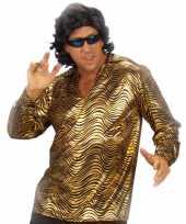 Goedkope disco fever shirt goud