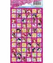 Goedkope disney prinsessen stickervel stickers
