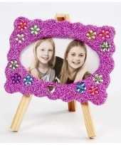 Goedkope diy fotolijstje knutselen paarse klei
